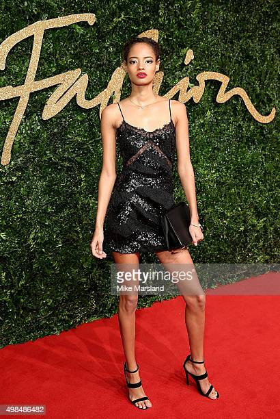 Malaika Firth attends the British Fashion Awards 2015 at London Coliseum on November 23 2015 in London England