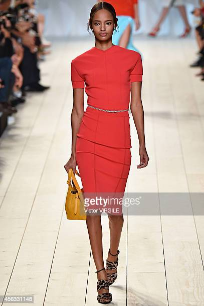 Malaika Firth walks the runway during the Nina Ricci Ready to Wear show as part of the Paris Fashion Week Womenswear Spring/Summer 2015 on September...