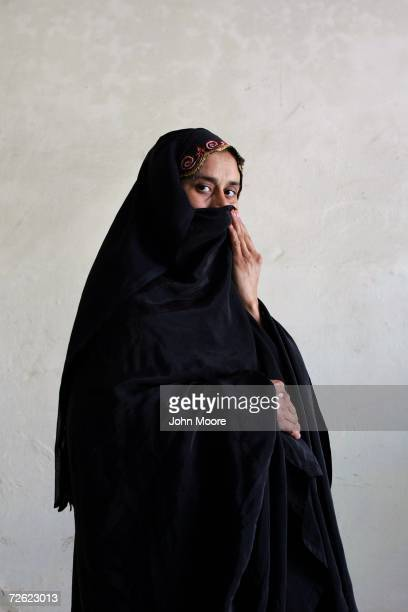 Malaika Salah eight months pregnant HIV positive and from the conservative Muslim tribal belt of western Pakistan waits at a counceling center on...