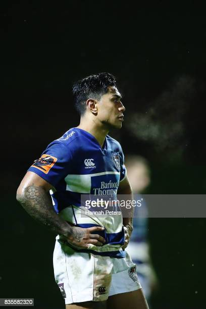 Malakai Fekitoa of Auckland looks on during the round one Mitre 10 Cup match between Counties Manukau and Auckland at ECOLight Stadium on August 19...