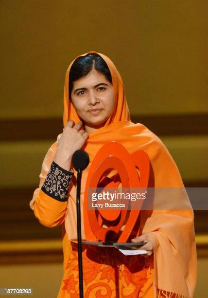 Malala Yousafzai appears onstage at Glamour's 23rd annual Women of the Year awards on November 11 2013 in New York City