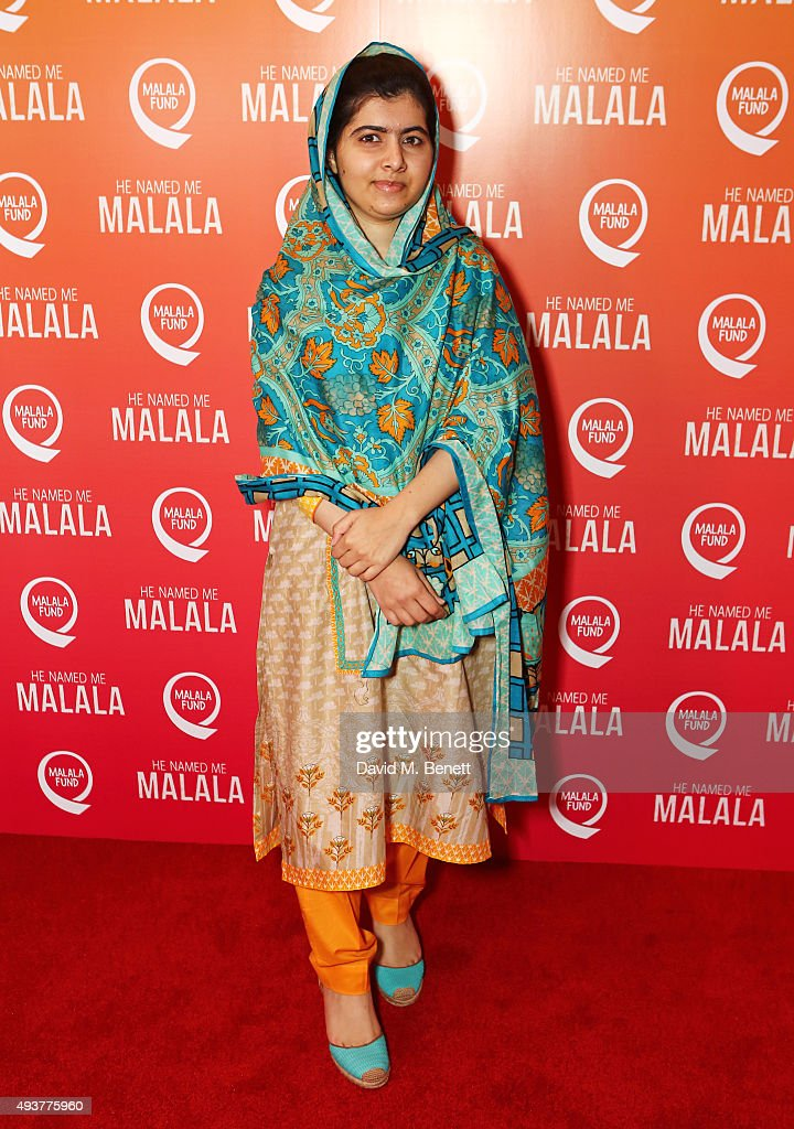 Malala Yousafzai attends a special screening of 'He Named Me Malala' on October 22 2015 in London England