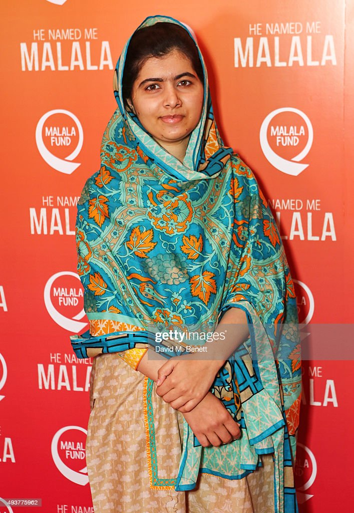<a gi-track='captionPersonalityLinkClicked' href=/galleries/search?phrase=Malala+Yousafzai&family=editorial&specificpeople=5849423 ng-click='$event.stopPropagation()'>Malala Yousafzai</a> attends a special screening of 'He Named Me Malala' on October 22, 2015 in London, England.