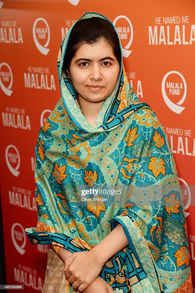 <a gi-track='captionPersonalityLinkClicked' href=/galleries/search?phrase=Malala+Yousafzai&family=editorial&specificpeople=5849423 ng-click='$event.stopPropagation()'>Malala Yousafzai</a> attends the 'He Named Me Malala' Special Screening at Ham Yard Hotel on October 22, 2015 in London, England.