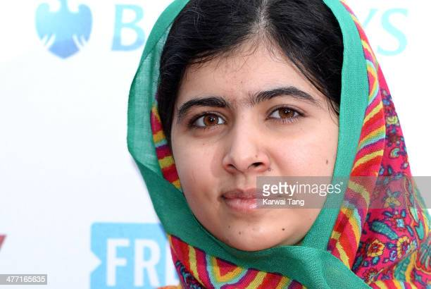 Malala Yousafzai attends We Day UK a charity event to bring young people together at Wembley Arena on March 7 2014 in London England