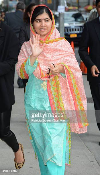 Malala Yousafzai is seen on September 25 2015 in New York City