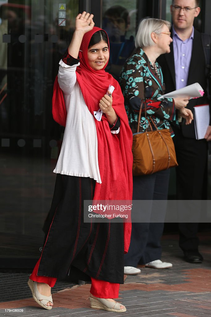 <a gi-track='captionPersonalityLinkClicked' href=/galleries/search?phrase=Malala+Yousafzai&family=editorial&specificpeople=5849423 ng-click='$event.stopPropagation()'>Malala Yousafzai</a> opens the new Library of Birmingham at Centenary Square on September 3, 2013 in Birmingham, England. The new futuristic building was officially opened by 16-year-old <a gi-track='captionPersonalityLinkClicked' href=/galleries/search?phrase=Malala+Yousafzai&family=editorial&specificpeople=5849423 ng-click='$event.stopPropagation()'>Malala Yousafzai</a> who was attacked by Taliban gunmen on her school bus near her former home in Pakistan in October 2012. The new building was designed by architect Francine Hoube and has cost 189 million GBP. The modern exterior of interlacing rings reflects the canals and tunnels of Birmingham. The library's ten floors will house the city's internationally significant collections of archives, photography and rare books as well as it's lending library.