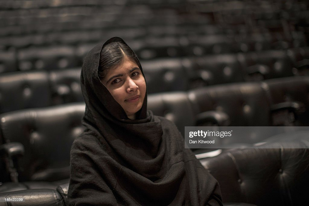 <a gi-track='captionPersonalityLinkClicked' href=/galleries/search?phrase=Malala+Yousafzai&family=editorial&specificpeople=5849423 ng-click='$event.stopPropagation()'>Malala Yousafzai</a> poses during a photocall for the launch of her memoir, 'I Am Malala' at the South Bank centre on October 20, 2013 in London, England. The 16-year-old was shot by the Taliban for championing girls' rights to an education in the Swat Region in Pakistan in 2012.