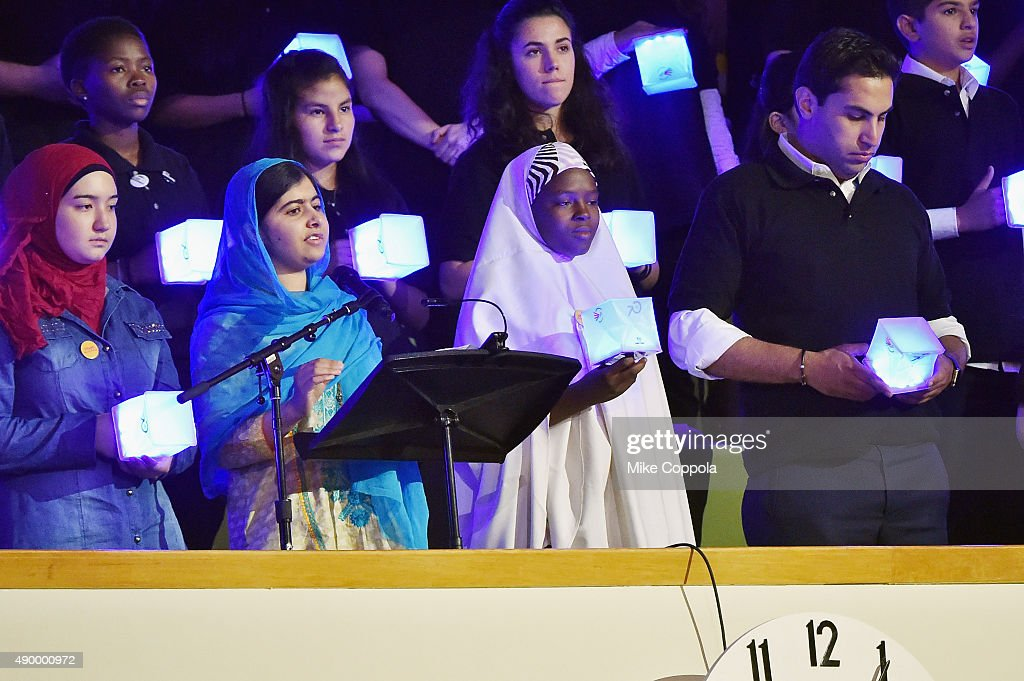 Malala Yousafzai speaks at The United Nations General Assembly on September 25, 2015 in New York City.