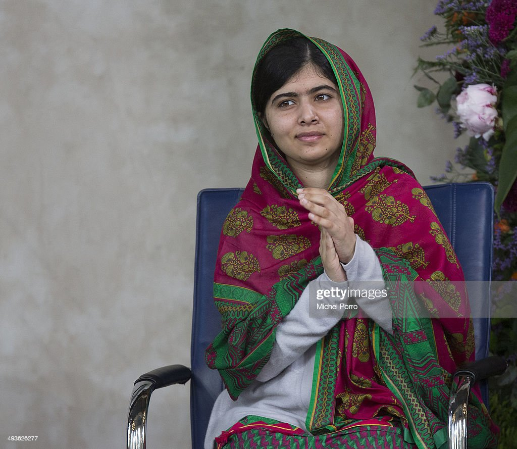 Malala Yousafzai who survived a Taliban assassination attempt in Pakistan attends the Four Freedoms award ceremony to receive the Freedom from Fear...