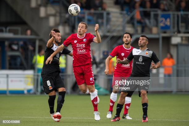Malano Santiago of Valetta FC Wout Brama of FC Utrecht Mark van der Maarel of FC Utrecht Maximiliano Velasco of Valetta FC during the UEFA Europa...