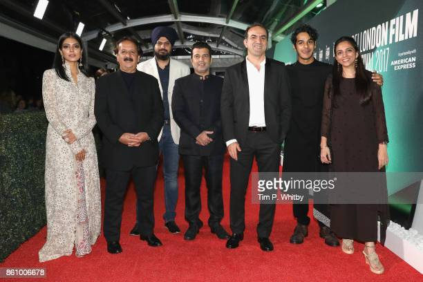 Malavika Mohanan director Majid Majidi Kanwal Kohli Producer Kishor Arora a guest Ishaan Khatter and producer Shareen Mantri Kedia attend the World...