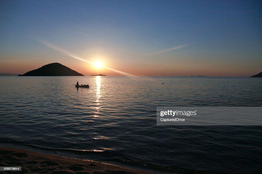 Malawi Lake Malawi : Stockfoto