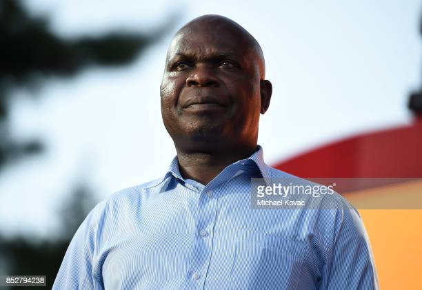 Malawi Minister of Foreign Affairs and International Cooperation Dr Emmanuel Fabiano speaks onstage during the 2017 Global Citizen Festival in...