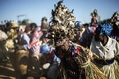Malawian traditional dancers perform during the last presidential campaign rally of Malawi's Presidential candidate Peter Mutharika brother of late...