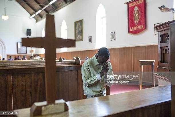 Malawians fled their homes due to xenophobia attend a religious ceremony at the Christ Church in Johannesburg South Africa on April 26 2015