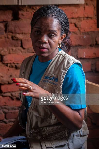 Malawi's Communication Officer Doreen Matonga speaks to journalist during a visit on June 22 concerning humanitarian drone corridor testing under the...