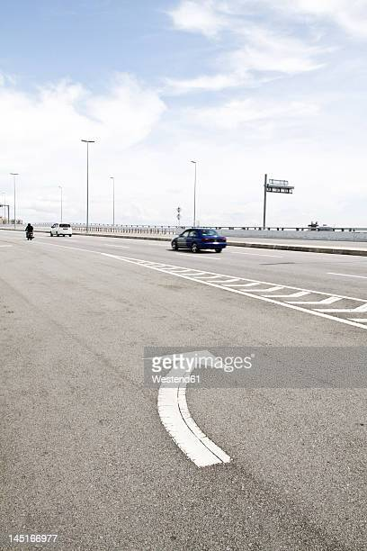 Malaysia, Butterworth, Vehicle on highway bridge