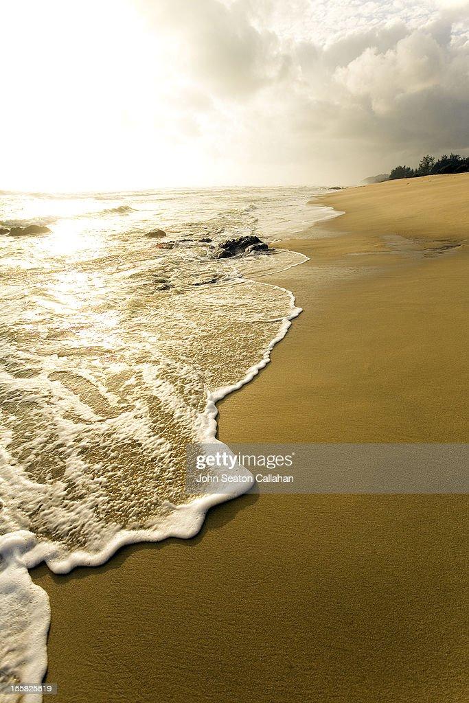 Malaysia, coastline at sunrise, South China sea : Stock Photo