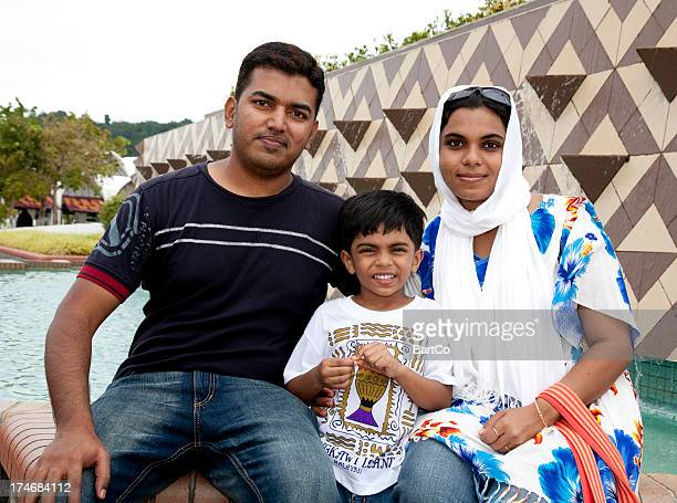 Malaysia, Indian family on holiday.