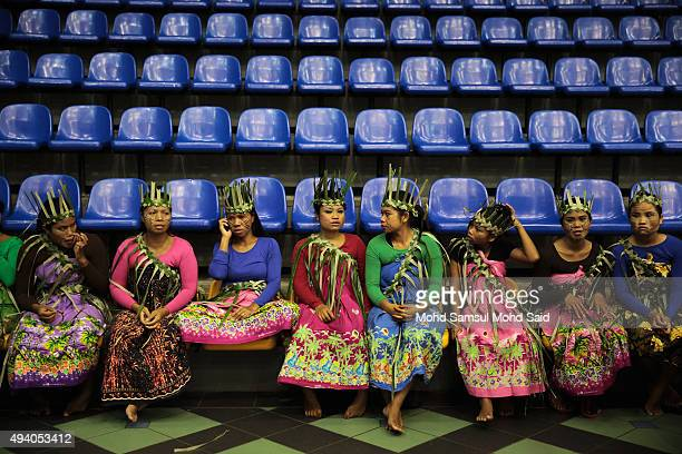 Malaysia Indigenous peoples from Bahbola waits their turn before start a performance during the International Aborigines Festival on October 24 2015...