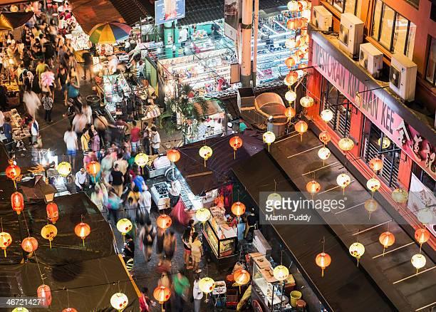 Malaysia, Kuala Lumpur, Chinatown at night