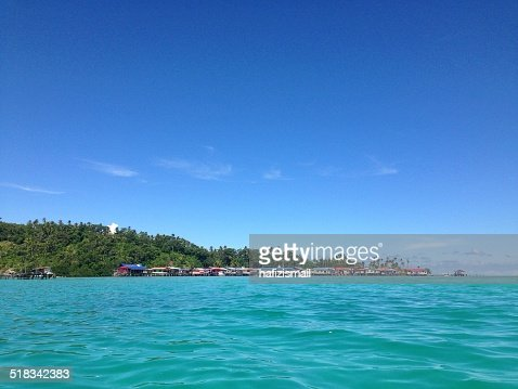 Malaysia, Sabah, Village by sea