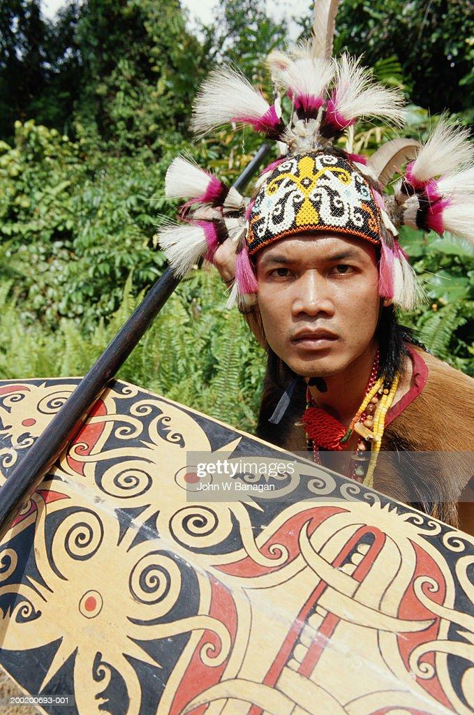 Malaysia, Sarawak, Orang Ulu warrior : Stock Photo