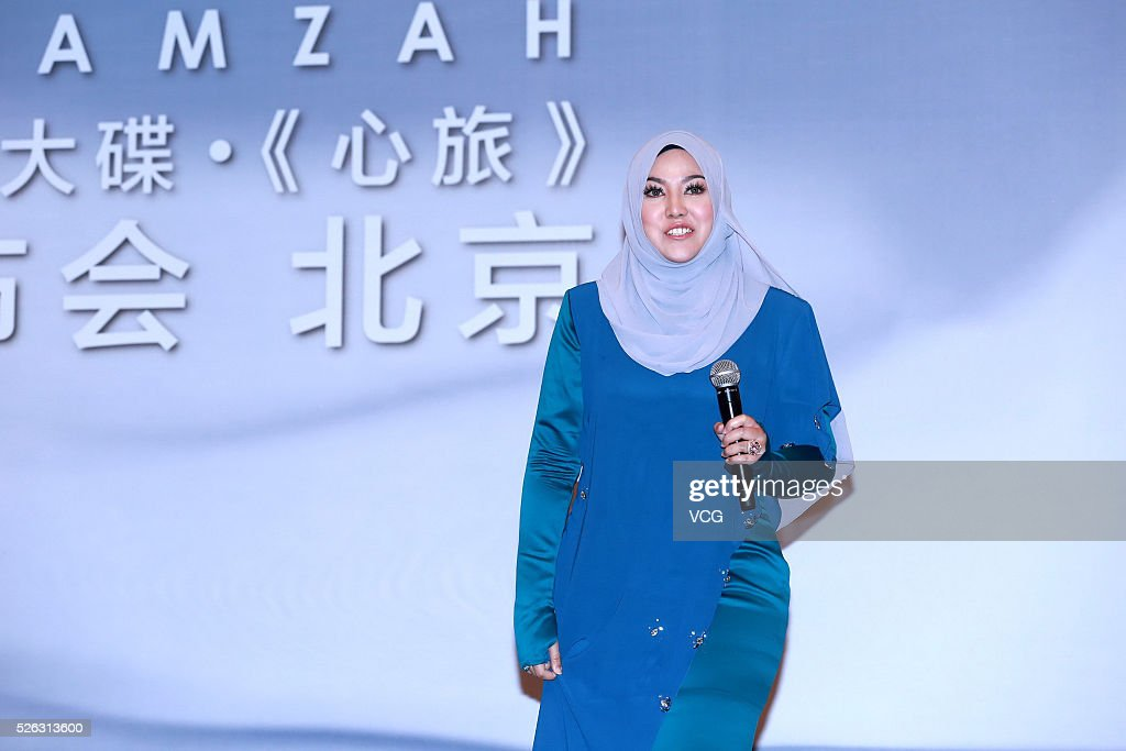 Malaysia singer Shila Amzah promotes new album on April 30, 2016 in Beijing, China.