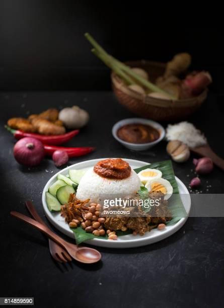 Malaysia traditional food 'Nasi lemak'.