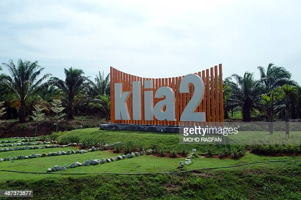MalaysiaaviationinfrastructurebudgetFOCUS by M This picture taken on April 12 2014 shows a KLIA2 sign at the entrance of the under construction...