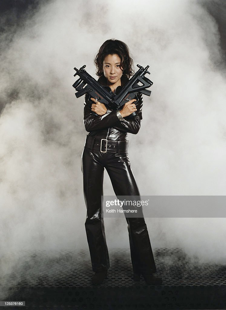 Malaysian actress <a gi-track='captionPersonalityLinkClicked' href=/galleries/search?phrase=Michelle+Yeoh&family=editorial&specificpeople=223894 ng-click='$event.stopPropagation()'>Michelle Yeoh</a> stars as agent Wai Lin in the James Bond film 'Tomorrow Never Dies' 1997 .