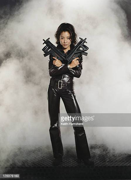 Malaysian actress Michelle Yeoh stars as agent Wai Lin in the James Bond film 'Tomorrow Never Dies' 1997