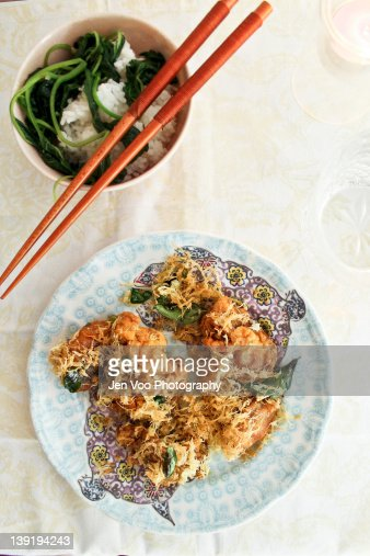 Malaysian butter chicken : Stock Photo