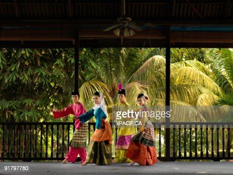 A Malaysian dance troupe.