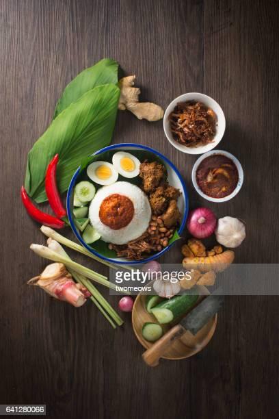 Malaysian food 'Nasi Lemak'.