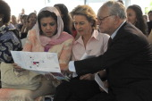 Malaysian Minister of Women Family and Community Development Shahrizat Abdul Jalil German Labour and Social Affairs Minister Ursula von der Leyen and...