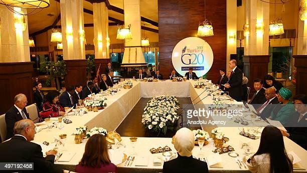 Malaysian Prime Minister Najib Razak Rosmah Mansor Senegalese President Macky Sall Mexican President Enrique Pena Nieto Zimbabwe's President Robert...