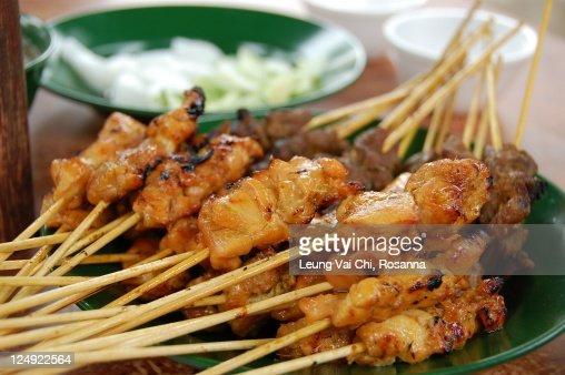 Malaysian satay : Stock Photo