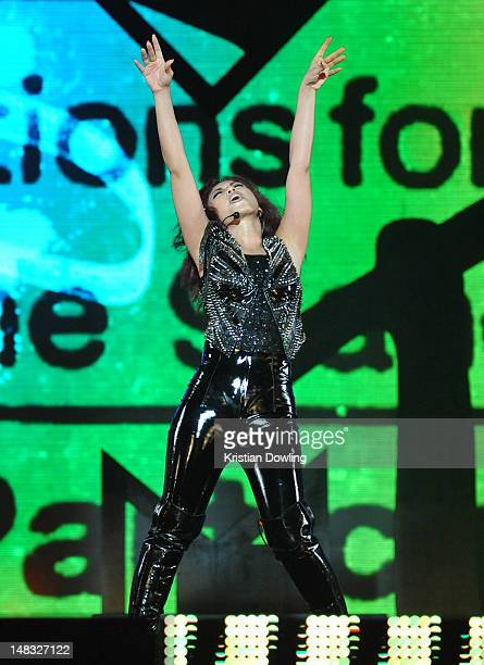 Malaysian singersongwriter Mizz Nina performs onstage at the MTV World Stage Live on July 14 2012 in Kuala Lumpur Malaysia The event was staged at...