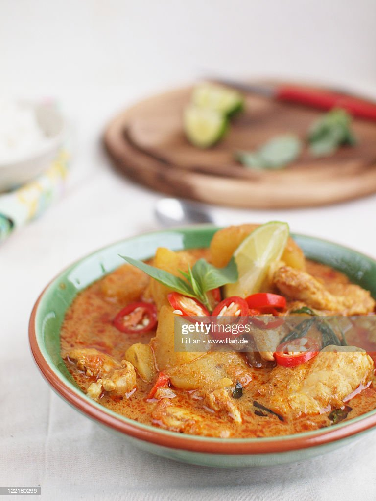 Malaysian style chicken curry : Stock Photo