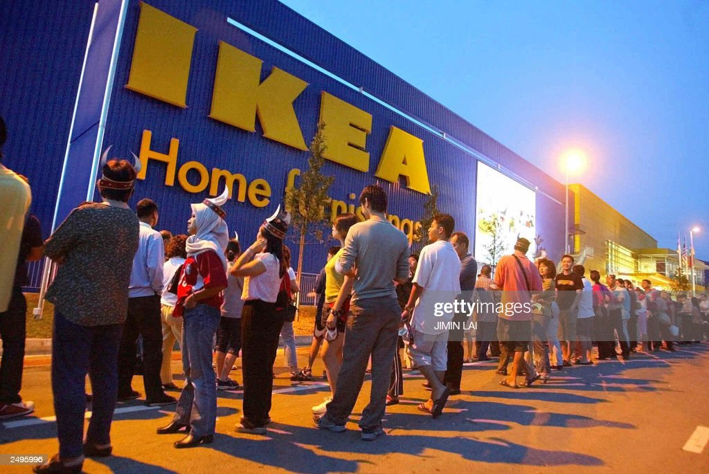 Malaysians Queue Up To Enter The Newest Swedish IKEA Furniture Store On Its  Opening Day In
