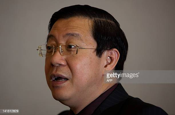 MalaysiapoliticsPenangheritageFEATURE by Dan Martin This picture taken on February 21 shows opposition politician Lim Guan Eng speaking during an...