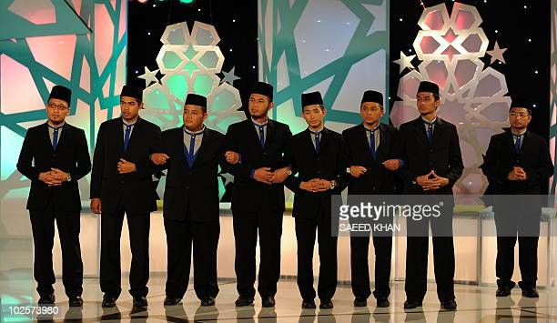 MalaysiareligionIslamentertainment FEATURE by M Jegathesan In a picture taken on June 29 2010 eight young Muslim contestants wait for the judgement...
