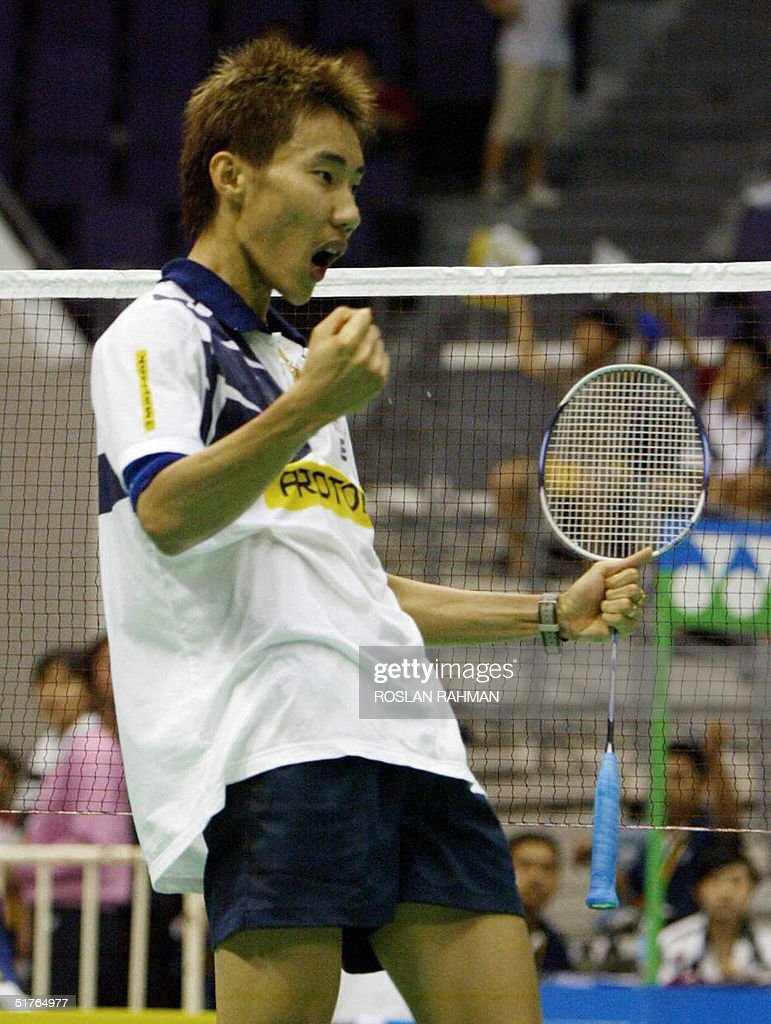 Malaysia s Lee Chong Wei celebrates afte