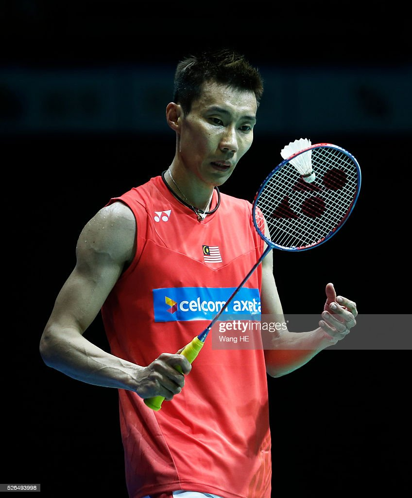 Malaysia��s <a gi-track='captionPersonalityLinkClicked' href=/galleries/search?phrase=Lee+Chong+Wei&family=editorial&specificpeople=647820 ng-click='$event.stopPropagation()'>Lee Chong Wei</a> reacts him men's singles match semi-final against Lin Dan of China at the 2016 Badminton Asia Championships, in Wuhan, Hubei province, China, April 30, 2016.