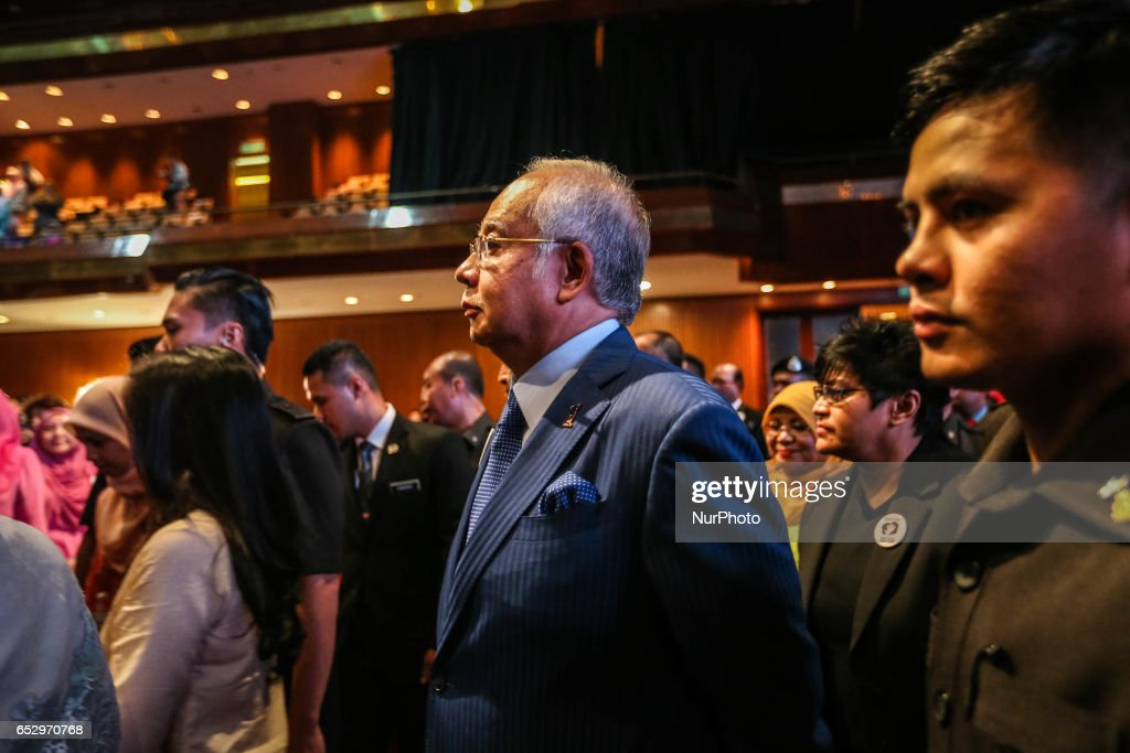 Malaysia's Prime Minister Najib Razak attends an event in Kuala Lumpur on March 13, 2017.