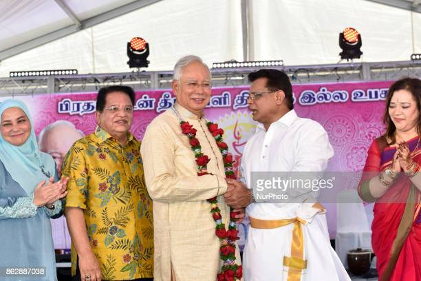 Malaysia's Prime Minister Najib Razak pictured during the Diwali Celebrations on October 18 2017 at Brickfield In Kuala Lumpur Malaysia Hundreds of...