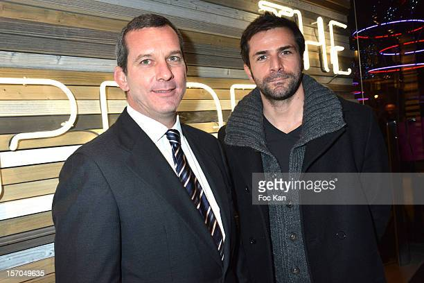 Malboro Classics CEO Mario Rinaldi and Gregory Fitoussi attend the MCS 'We The People' launch party at MCS Champs Elysees on November 27 2012 in...