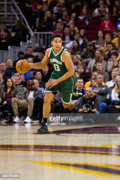 Malcolm Brogdon of the Milwaukee Bucks drives down the court during the first half against the Cleveland Cavaliers at Quicken Loans Arena on December...